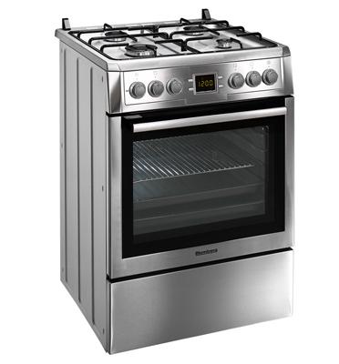 תנור אפיה משולב כיריים תא אפייה ענק 65 ליטר תוצרת Blomberg גימור נירוסטה דגם HWN9325E