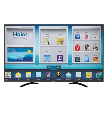 "טלוויזיה 40"" LED Android Smart TV 200Hz תוצרת HAIER דגם 40U5000A"