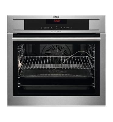 תנור אפיה בנוי פירוליטי 72 ליטר פיקוד טאץ' סגירת דלת רכה גימור נירוסטה תוצרת AEG דגם BP1731410M