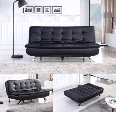 ספה נפתחת למיטה דמוי עור מבית BRADEX דגם MONTEGO