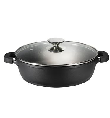 """סוטז' 28 ס""""מ בנפח 4 ליטר מסדרת Black Rock של השף אהרוני תוצרת ROSOPRO דגם 552228"""