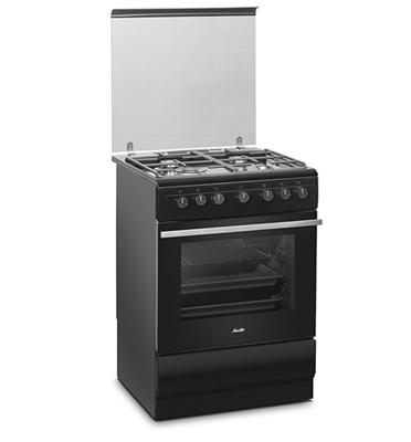 תנור אפיה משולב כיריים 4 להבות בצבע שחור תוצרת SAUTER דגם SAF86B