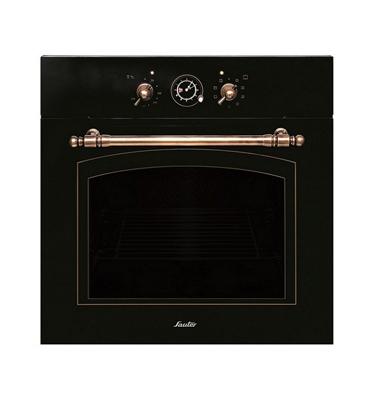 תנור אפיה בנוי בעיצוב רטרו כפרי בצבע שחור תוצרת SAUTER. דגם SAI1072