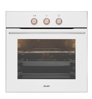 תנור אפיה בנוי מולטיסיסטם 10 תוכניות בצבע לבן תוצרת SAUTER. דגם SAI1045W