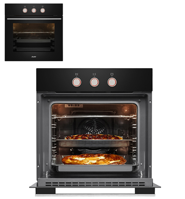 תנור אפיה בנוי מולטיסיסטם 10 תוכניות בצבע שחור תוצרת SAUTER. דגם SAI1045B