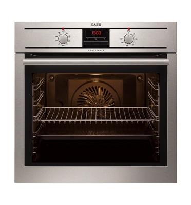 תנור אפיה בנוי מולטיסיסטם 8 תוכניות עם טורבו אקטיבי בגימור נירוסטה תוצרת AEG דגם BE1300300M