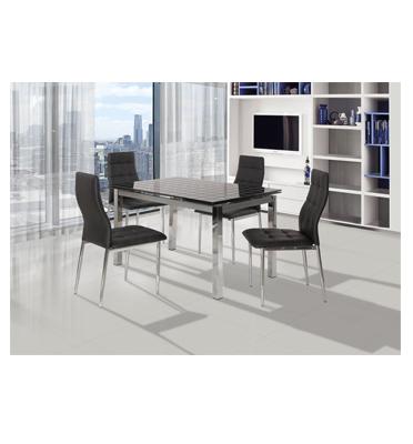 פינת אוכל מעוצבת בקו איטלקי עדין +4 כסאות אוכל בעיצוב תואם תוצרת SIRS דגם TB17-9