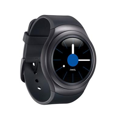"""שעון  יד חכם מסך 1.2"""" Full Circula בצבע שחור תוצרת SAMSUNG דגם Gear S2 Sport R720 Black"""