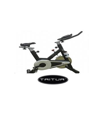 """אופני ספינינג  בעל צג דיגיטלי, גלגל תנופה 30 ק""""ג ודוושות SPD תוצרת TRITUR דגם 184"""