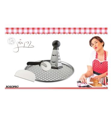 """סט 4 חלקים לפיצה """"מותק של כלים"""" קרין גורן תוצרת ROSOPRO דגם B937"""