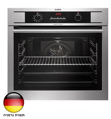 תנור אפיה בנוי פירוליטי 72 ליטר סגירת דלת רכה גימור נירוסטה תוצרת AEG דגם BP1531310M