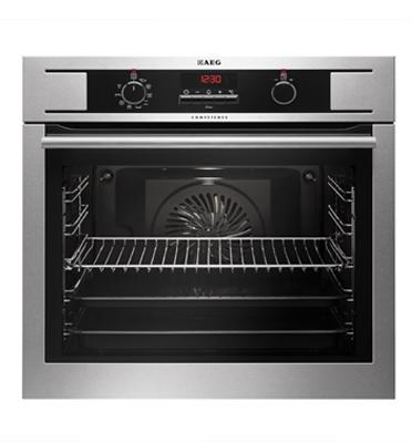 תנור אפיה בנוי נפח תא אפיה 72 ליטר סגירת דלת רכה גימור נירוסטה תוצרת AEG דגם BE1531310M