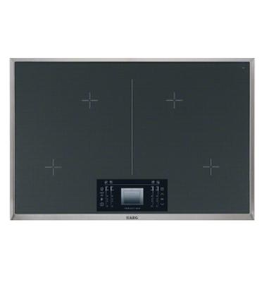 """כיריים אינדוקציה ברוחב 80 ס""""מ MaxiSense עם 4 אזורי בישול גמישים עם צג תוצרת AEG דגם HK894400XG"""