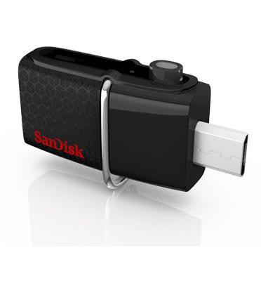 זיכרון נייד Disk On Key 64GB Ultra Dual USB Drive מבית SanDisk דגם SDDD2-064G-GAM46