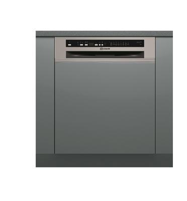 מדיח כלים רחב חצי אינטגרלי 9 ליטר ל-13 מע' כלים Power Clean Plus תוצרת Bauknecht דגם GSI81414IN