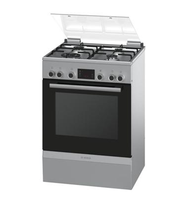 תנור אפיה משולב כיריים תוצרת בוש בגימור נירוסטה תוצרת בוש דגם HGD745350Y