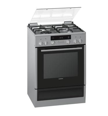 תנור אפייה משולב כיריים תוצרת סימנס גימור נירוסטה סגירת דלת רכה דגם HX74W530Y