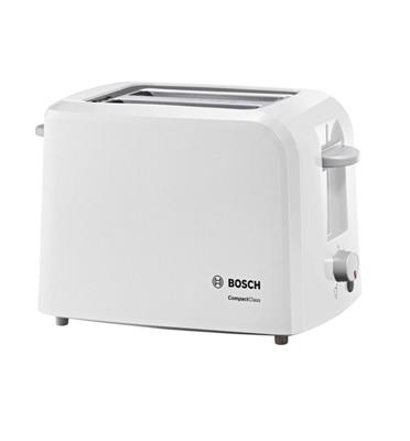 מצנם אלקטרוני לשתי פרוסות עם גופי חימום בעוצמה 980W תוצרת BOSCH דגם TAT3A011