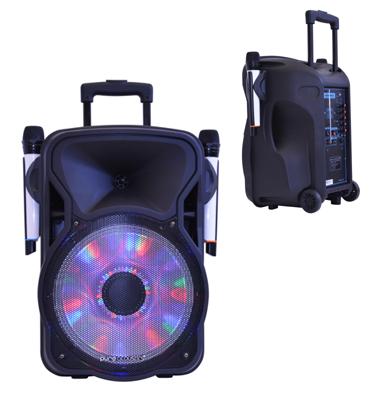 """בידורית BT """"15 מבית Pure Acoustics +שני מיקרופונים אלחוטיים כולל חצובה מתנה! דגם LX-500"""