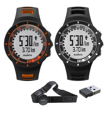 שעון דופק מעוצב לנתוני מהירות ומרחק לפעילות בשטח כולל רצועת דופק תוצרת Suunto דגם Quest