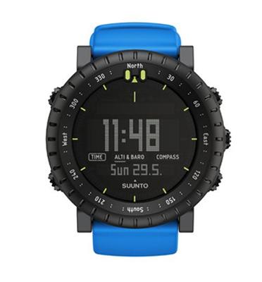 שעון שטח לגבר מעוצב ומתוכנן עם מחוייבות ללא פשרות תוצרת Suunto דגם CORE Blue Crush