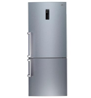 מקרר עם מקפיא תחתון בנפח 475 ליטר מדחס אינוורטר גימור נירוסטה תוצרת LG דגם GRB470BF