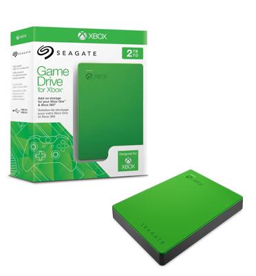 """כונן קשיח חיצוני 2.5""""   2000GB ייעודי עבור  Xbox מבית SEAGATE דגם STEA2000403-ירוק"""