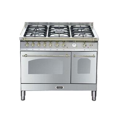 """תנור משולב כיריים דו תאי בעיצוב כפרי ברוחב 90 ס""""מ נירוסטה תוצרת LOFRA דגם RSD96MFTE/CI"""