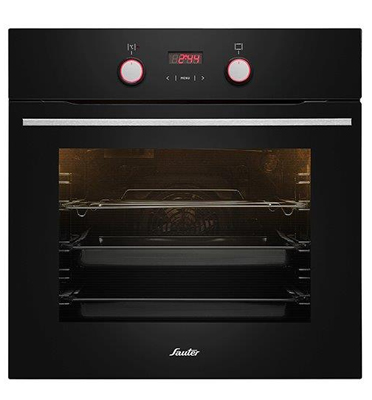 תנור אפייה בנוי תוצרת Sauter צבע שחור דגם SAI1060B