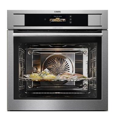 תנור אפיה בנוי מקצועי רב-תכליתי כולל בישול באדים Sous Vide תוצרת AEG דגם BS1836680M