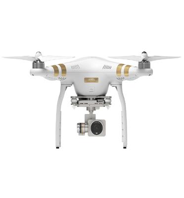 רחפן Phantom 3 Professional מבית DJI עם סוללה LiPo ומצלמה 4K כולל GPS מובנה+סוללה נוספת מתנה!!
