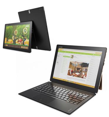 """טאבלט עם עט 12"""" 8GB מעבד Intel® Core™ m7-6Y75 תוצרת Lenovo דגם 80QL002TIV miix"""
