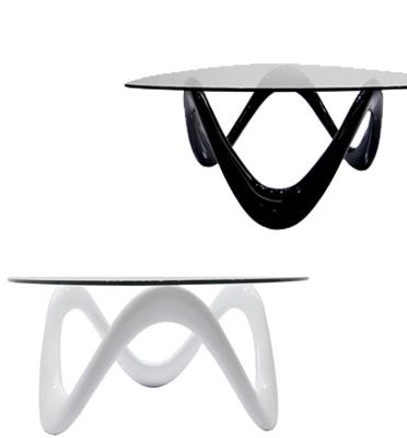 שולחן סלוני מעוצב עם זכוכית מחוסמת תוצרת BRADEX דגם FLORA