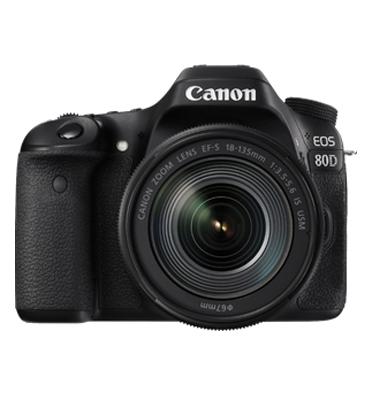 מצלמה רפלקס DSLR עם עדשה 18-135 NANO USM תוצרת CANON דגם EOS 80D