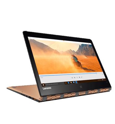 """מחשב נייד מסך מגע 12.5"""" 8GB מעבד Intel Core m7-6Y75 תוצרת Lenovo דגם YOGA 900S - 80ML001KIV זהב"""
