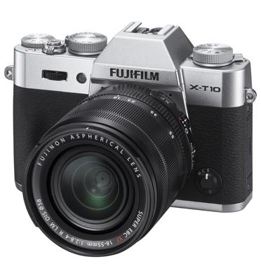 מצלמה דיגיטלית ללא מראה כולל עדשה 18-55mm מבית FUJIFILM דגם X-T10
