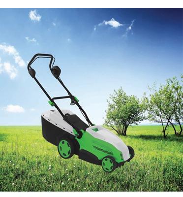 מכסחת דשא חשמלית יודנאי, בעלת הספק 1900W ובעלת שק איסוף קשיח, מבית HYUNDAI דגם HD-1900