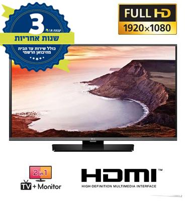 """מסך מחשב 40"""" LED משולב טלוויזיה ברזולוציית FULL HD, כולל רמקולים מובנים תוצרת LG דגם 40MB27HM"""