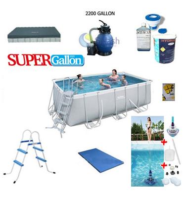 בריכת אולטרה בגודל 412X201X122 חבילת SUPER GALLON תוצרת BEST WAY דגם 56456