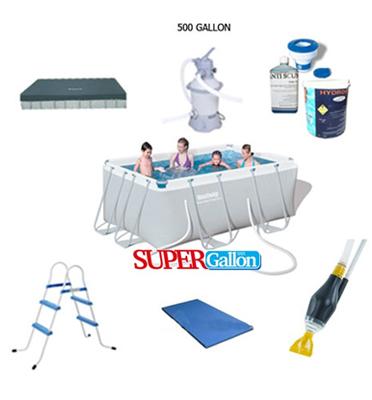 בריכת אולטרה בגודל 287X200X100 חבילת SUPER GALLON תוצרת BEST WAY דגם 56248