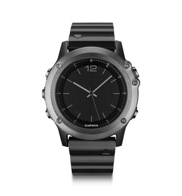 שעון דופק רצועת מתכת וזכוכית ספיר מבית GARMIN דגם Fenix 3 Sapphire