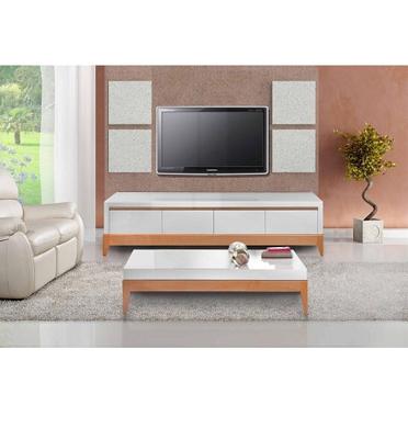 סט מרשים של מזנון ושולחן ברמת גימור גבוהה, שילוב קלאסי של לבן ואלון תוצרת SIRS דגם wood