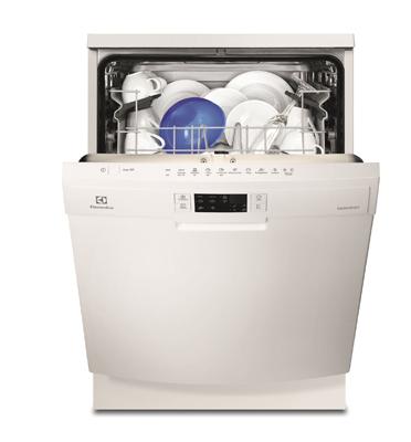 מדיח כלים רחב ל-13 מערכות כלים צבע לבן תוצרת Electrolux דגם ESF5521LOW
