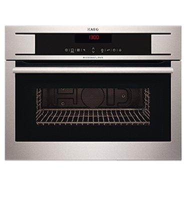 """תנור מיקרוגל בנוי משולב גריל עם 3 מצבי בישול בגובה 45 ס""""מ תוצרת AEG דגם KR8403101M"""