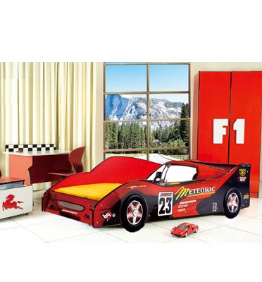 מיטת ילדים בצורת מכונית מרוץ מדליקה! מבית Homax דגם הארפר