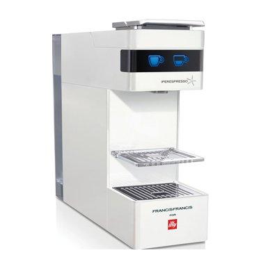 מכונת אספרסו לקפה איטלקי אמיתי בעיצוב אלגנטי מבית illy דגם Y3- צבע לבן +זוג ספלים ממותגים מתנה!