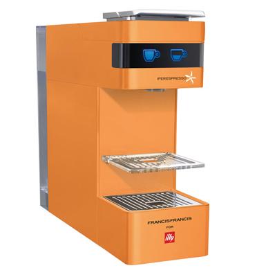 מכונת אספרסו לקפה איטלקי אמיתי  מבית illy דגם Y3 בצבע כתום +זוג ספלים ממותגים מתנה!