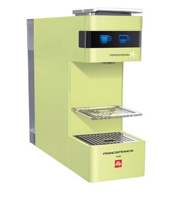 מכונת אספרסו לקפה איטלקי אמיתי  מבית illy דגם Y3 בצבע ירוק +זוג ספלים ממותגים מתנה!