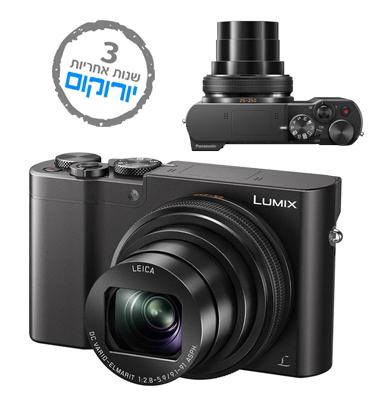 מצלמה קומפקטית 20MP מייצב תמונה אופטי MEGA O.I.S כולל כרטיס 16GB תוצרת Panasonic דגם DMC-TZ110