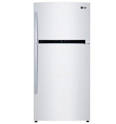 מקרר עם מקפיא עליון בנפח 593 ליטר מדחס אינוורטר- צבע לבן תוצרת LG דגם  GRM6980W